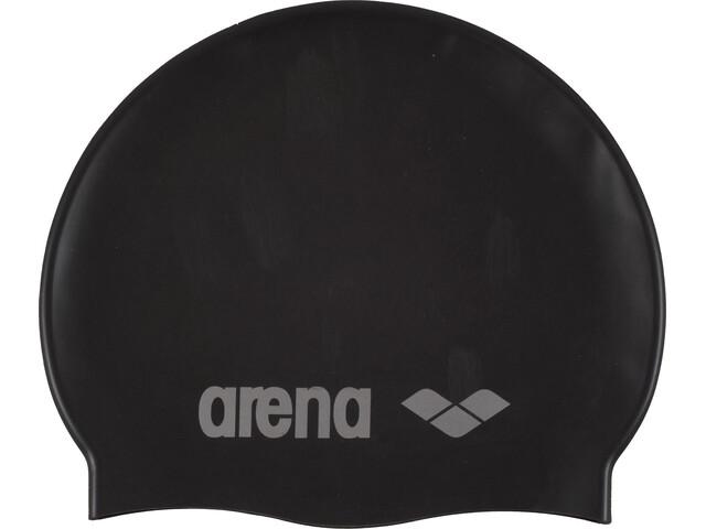 arena Classic Silicone Gorro de natación Niños, black-silver